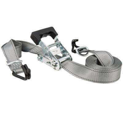 1 in. x 16 ft. x 1,000 lbs. Industrial Ratchet Tie Down with J-Hook and D-Ring