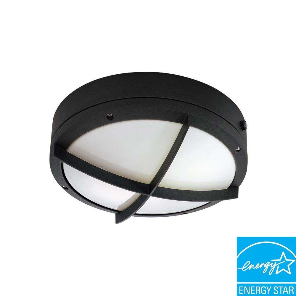 Ceiling/Wall Mount 2-Light Outdoor Matte Black Light Fixture