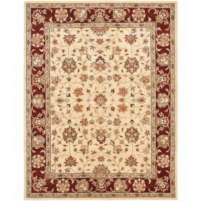 Heritage Ivory/Red 8 ft. x 10 ft. Area Rug