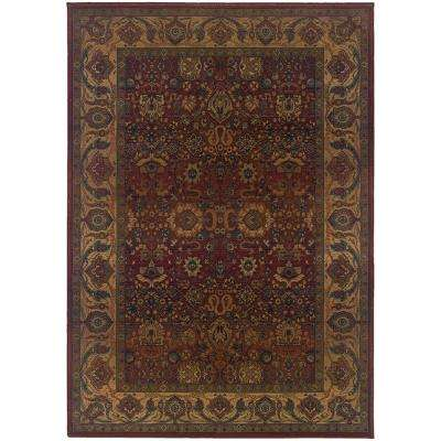 Exhilaration Burgundy 4 ft. x 6 ft. Area Rug