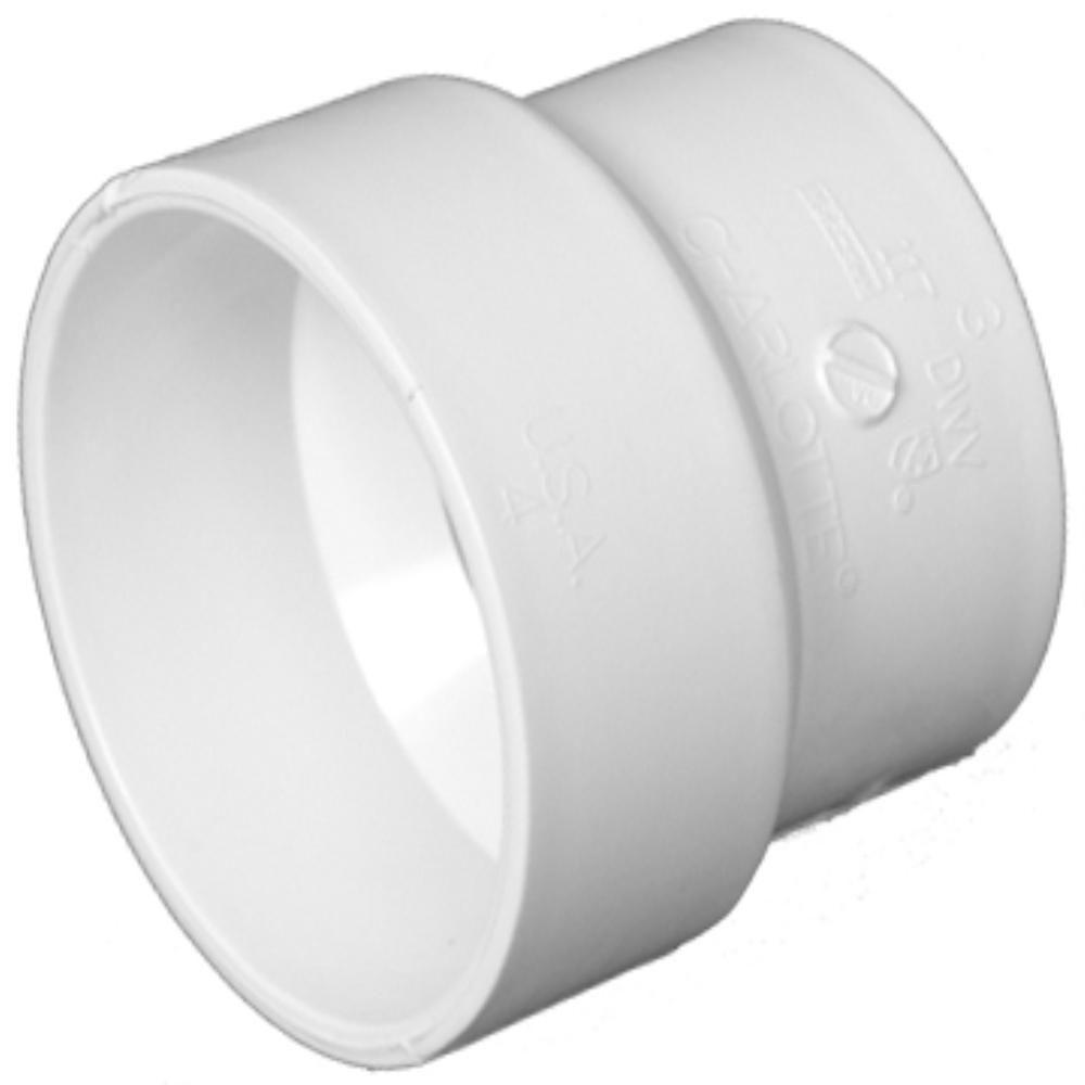 4 in. x 3 in. PVC DWV Adapter Coupling S and D/DWV
