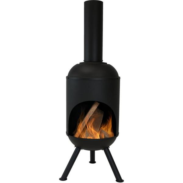 Sunnydaze Decor 60 In Steel Outdoor Wood Burning Chiminea Fire Pit Rcm Lg765 The Home Depot