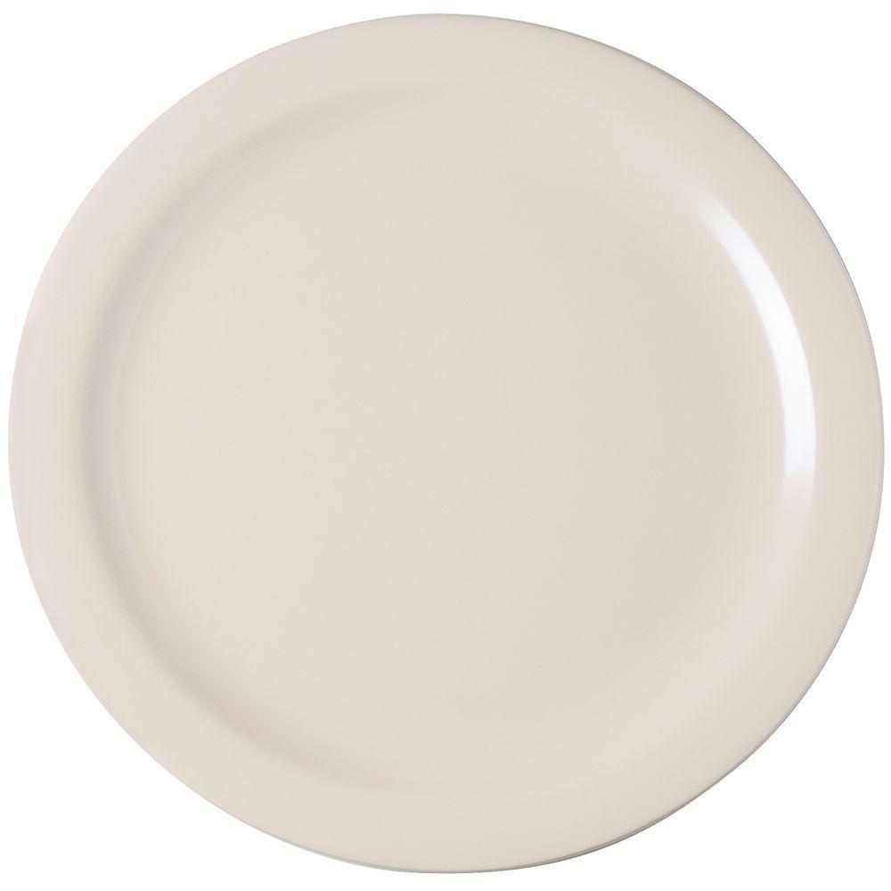 10.25 in. Diameter Melamine Dinner Plate in Tan (Case of 48)