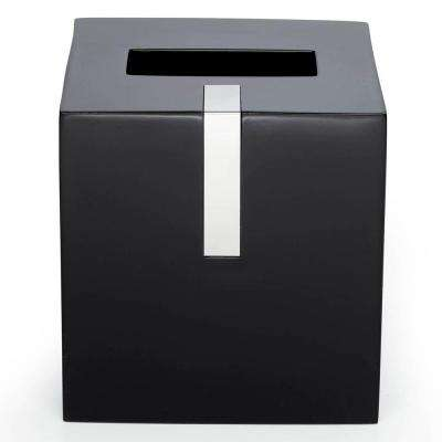 6 in. Tissue Box Cover in Black Resin