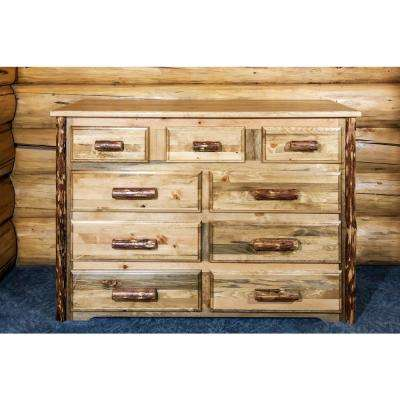 Glacier Country 9-Drawer Stained and Lacquered Dresser