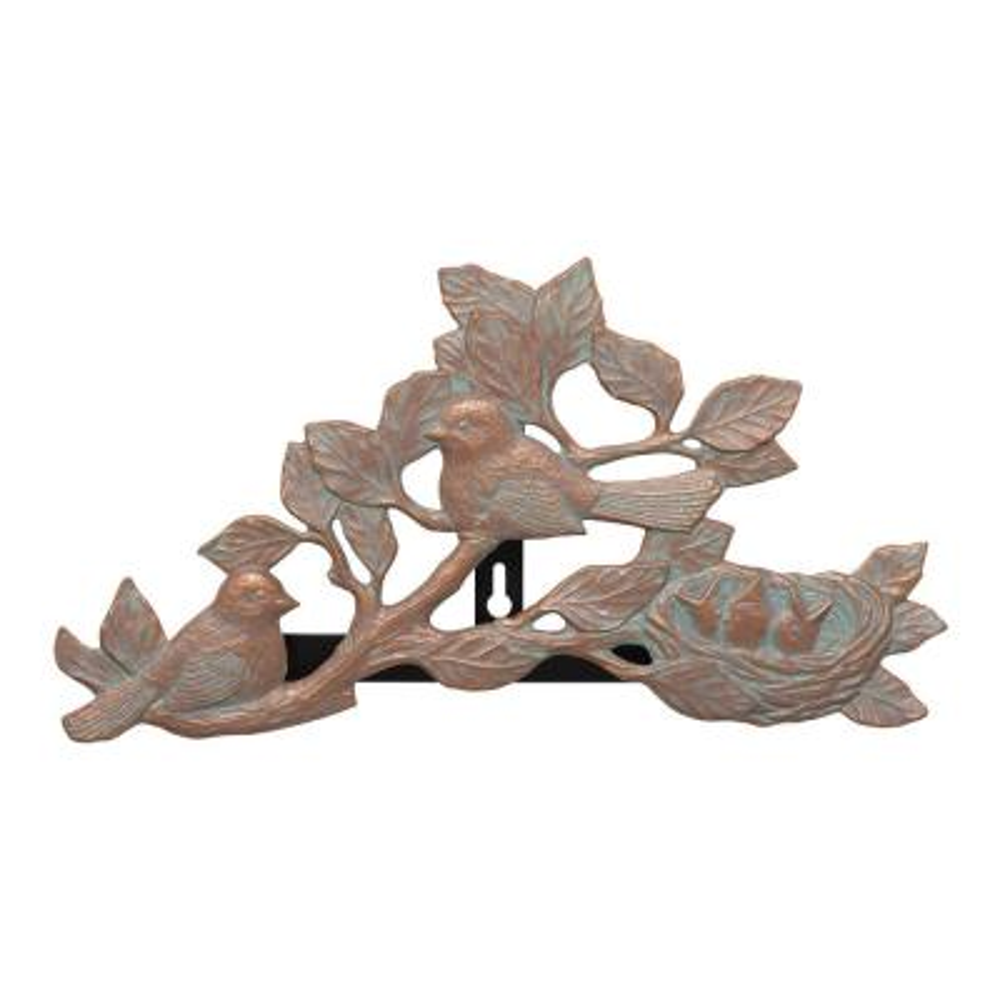 Copper Verdigris Chickadee Hose Holder