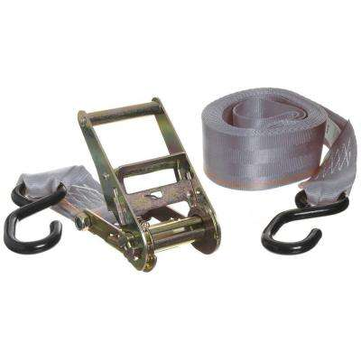 2 in. x 14 ft. x 666 lbs. Extra Wide Ratchet Tie Down