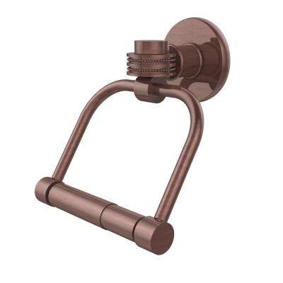 Continental Collection Single Post Toilet Paper Holder with Dotted Accents in Antique Copper