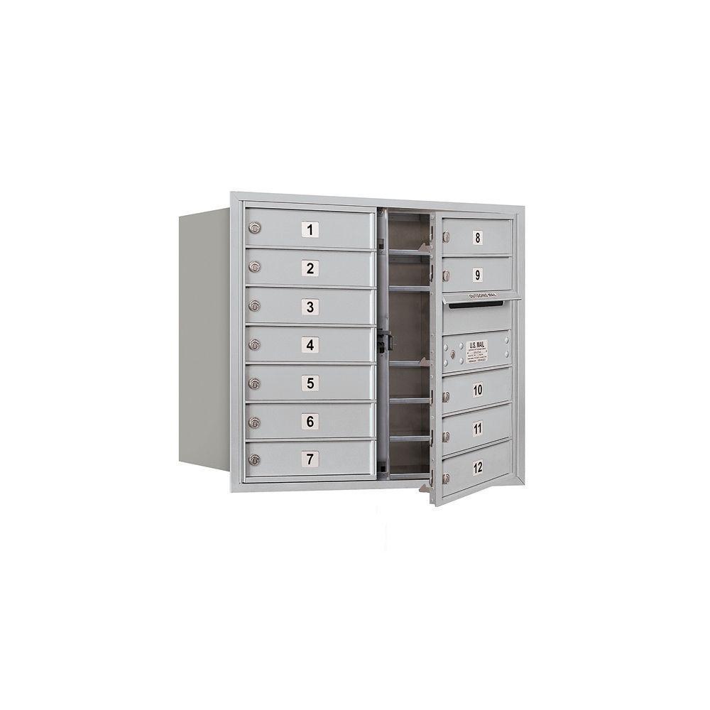 3700 Series 27 in. 7 Door High Unit Aluminum Private Front