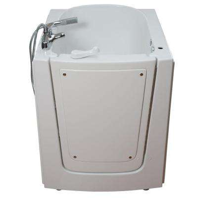 Front Entry 2.75 ft. x 38 in. Walk-In Air Massage Bathtub in White with Right Hinge Outswing Door