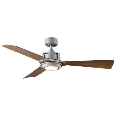 Osprey 56 in. LED Indoor/Outdoor Graphite 3-Blade Smart Ceiling Fan with 3000K Light Kit and Wall Control