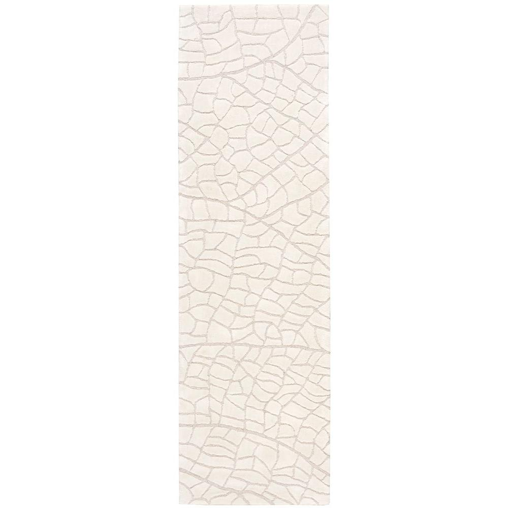 Escalade Ivory 2 ft. 3 in. x 8 ft. Rug Runner