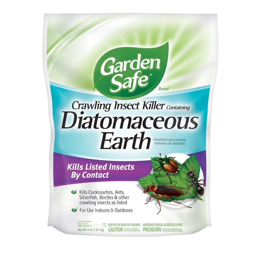 Garden Safe 4 Lb Diatomaceous Earth Crawling Insect Killer Hg 93186 1 The Home Depot