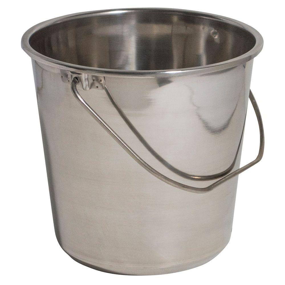 Amerihome Medium Stainless Steel Bucket Set 3 Pack