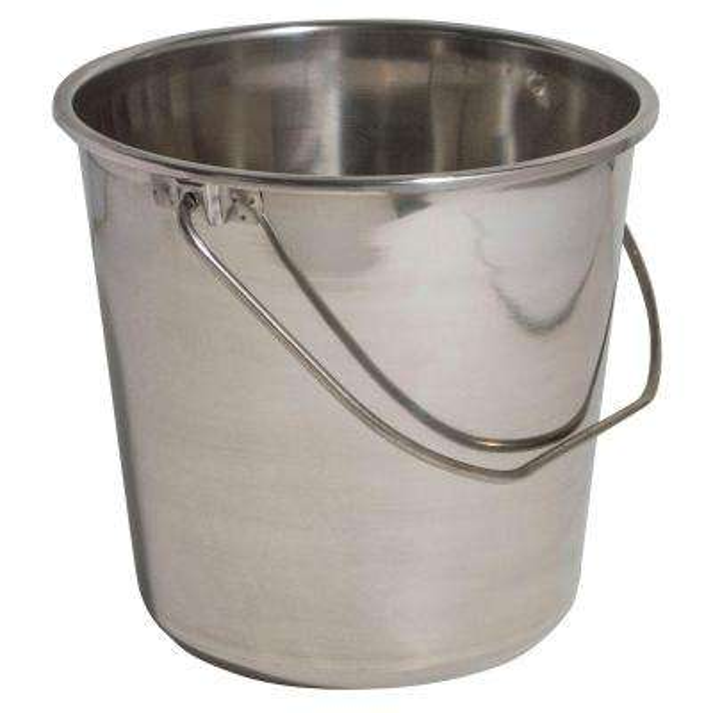 Medium Stainless Steel Bucket Set (3-Pack)