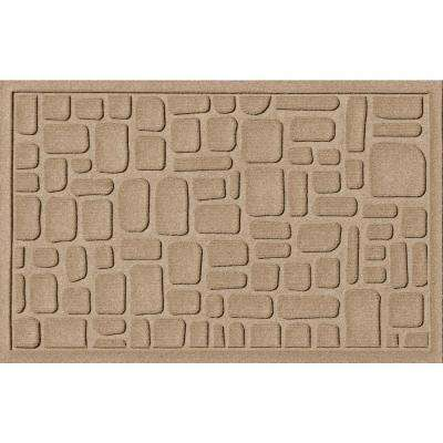Stone Path Camel 24 in. x 36 in. Polypropylene Door Mat