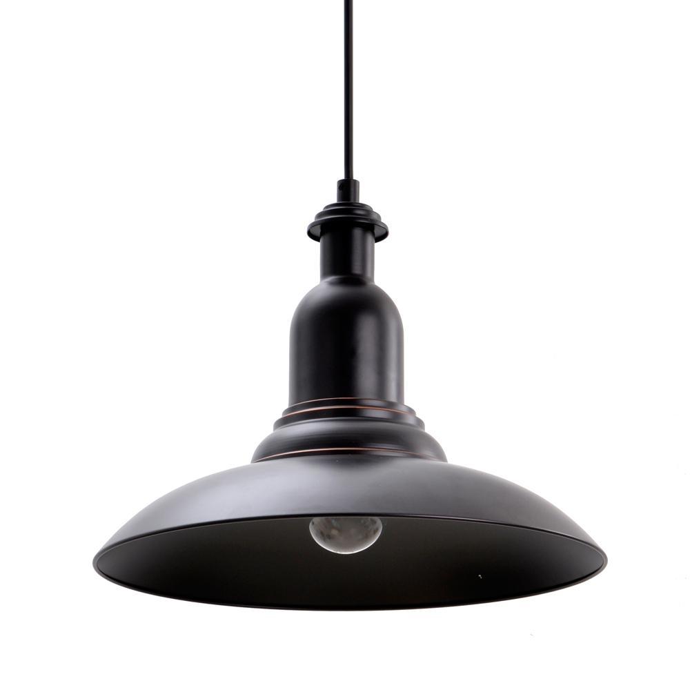 1light oil rubbed bronze school house pendant