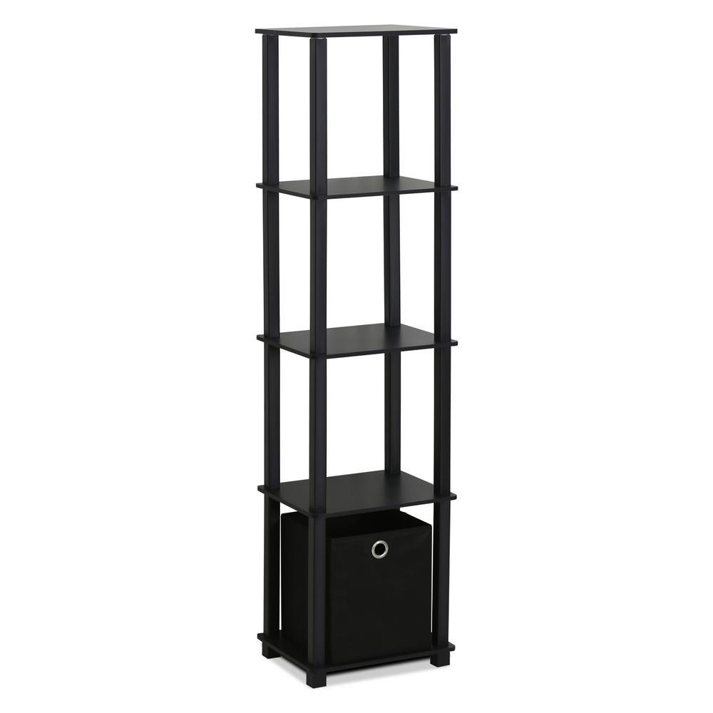 Furinno Turn-N-Tube Black Open Bookcase 15120BKBK
