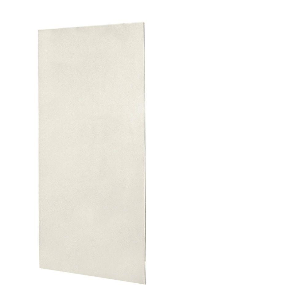 Swanstone 1/4 in. x 48 in. x 96 in. One Piece Easy Up Adhesive Shower Wall Panel in Glacier-DISCONTINUED