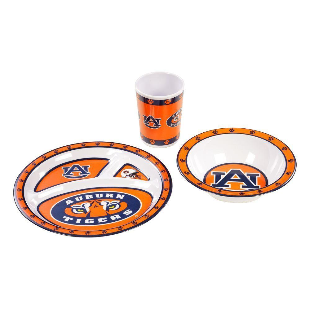 BSI Products NCAA Auburn Tigers 3-Piece Kid's Dish Set