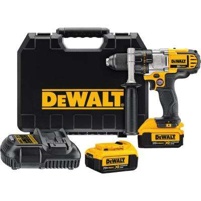 20-Volt MAX Lithium-Ion Cordless 1/2 in. Premium 3-Speed Drill/Driver Kit with (2) Batteries 4Ah, Charger and Case