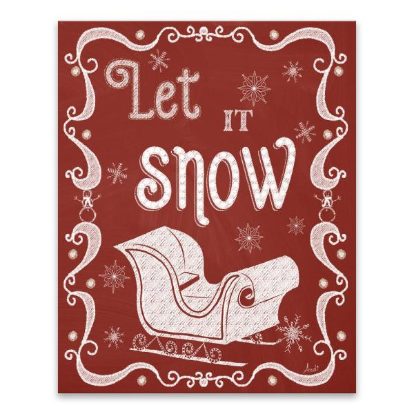 Artissimo Designs ''Let It Snow'' by Andi Metz Printed Canvas Wall