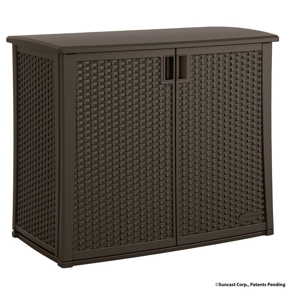 Suncast 97 Gal. Resin Outdoor Patio Cabinet-BMOC4100 - The Home Depot