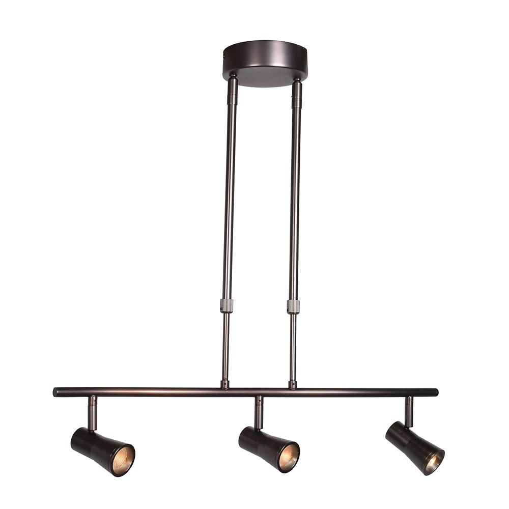 Access Lighting Sleek 23 in. 4-Watt Integrated LED Bronze Pendant with Shade