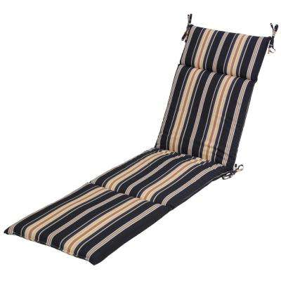 Caprice Stripe Attached Ties Outdoor Cushions Patio Furniture