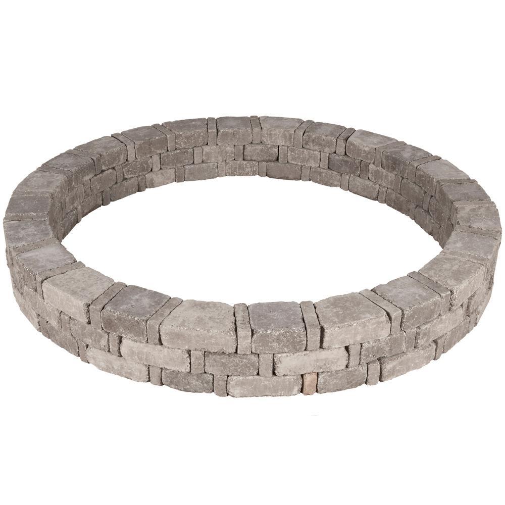 Pavestone RumbleStone 72.5 in. x 10.5 in. Tree Ring Kit in Greystone