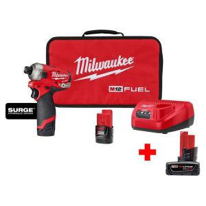 Deals on Milwaukee M12 FUEL 12V Hex Impact Driver Kit w/6.0 Ah Battery