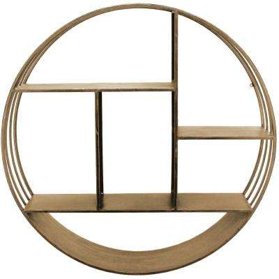 Brooklyn Gold Circular Shelf