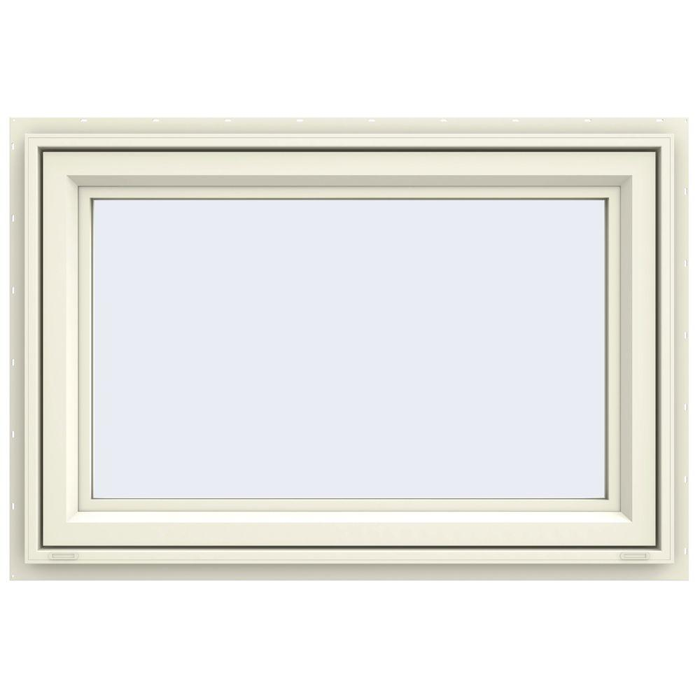 JELD-WEN 47.5 in. x 29.5 in. V-4500 Series Awning Vinyl Window - Yellow