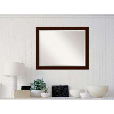 Marquis Cherry Wood 31 in. W x 25 in. H Traditional Framed Mirror