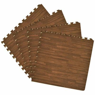 Walnut 24 in. x 24 in. Interlocking Foam Anti Fatigue Tiles (16 sq. ft./case)