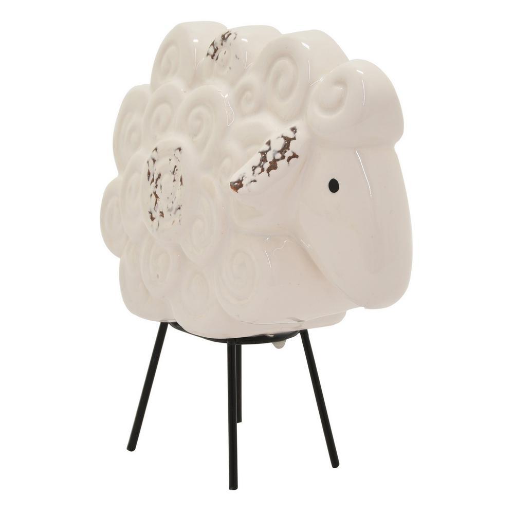 6 in. Ceramic Sheep Tabletop White