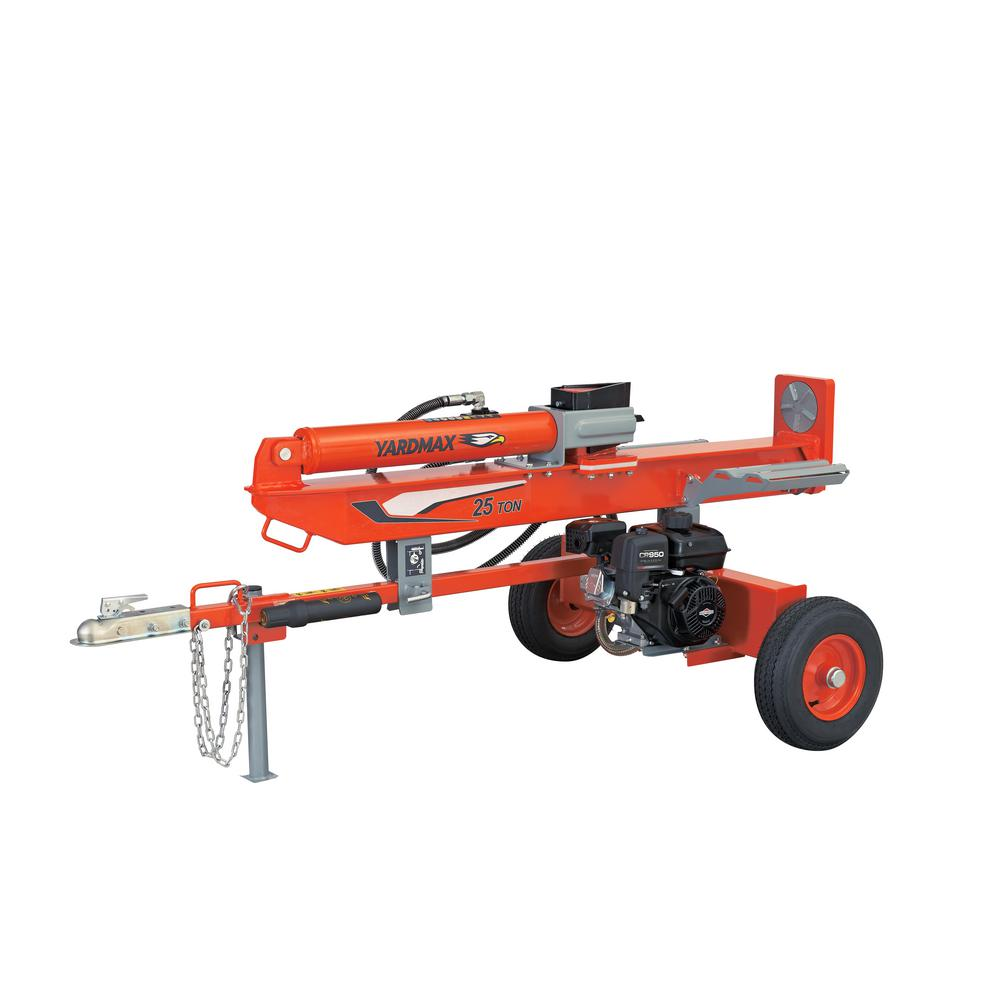YARDMAX 25-Ton 208cc Briggs and Stratton Powered Gas Log Splitter