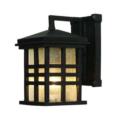 Huntington 1-Light Weathered Bronze Outdoor Wall Mount Lantern