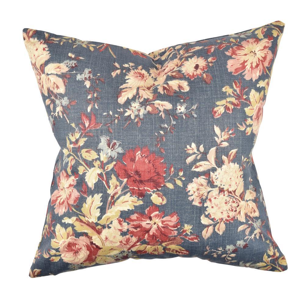 Elegant Sofa Pillows: Vesper Lane Elegant Floral Throw Pillow-FL07BLZ20I