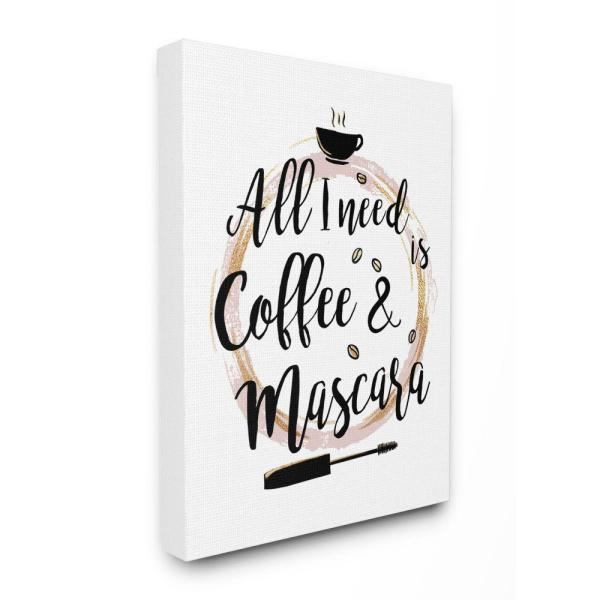 Stupell Industries Coffee And Mascara Fashion Designer Pink Gold Word Design By Ziwei Li Canvas Typography Wall Art 30 In X 24 In Ygg 151 Cn 24x30 The Home Depot