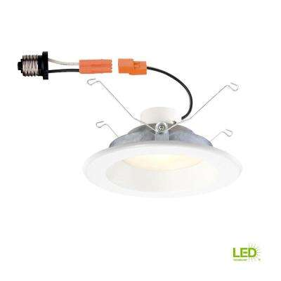 6 in. White Integrated LED Recessed Trim with Changeable Trim Ring