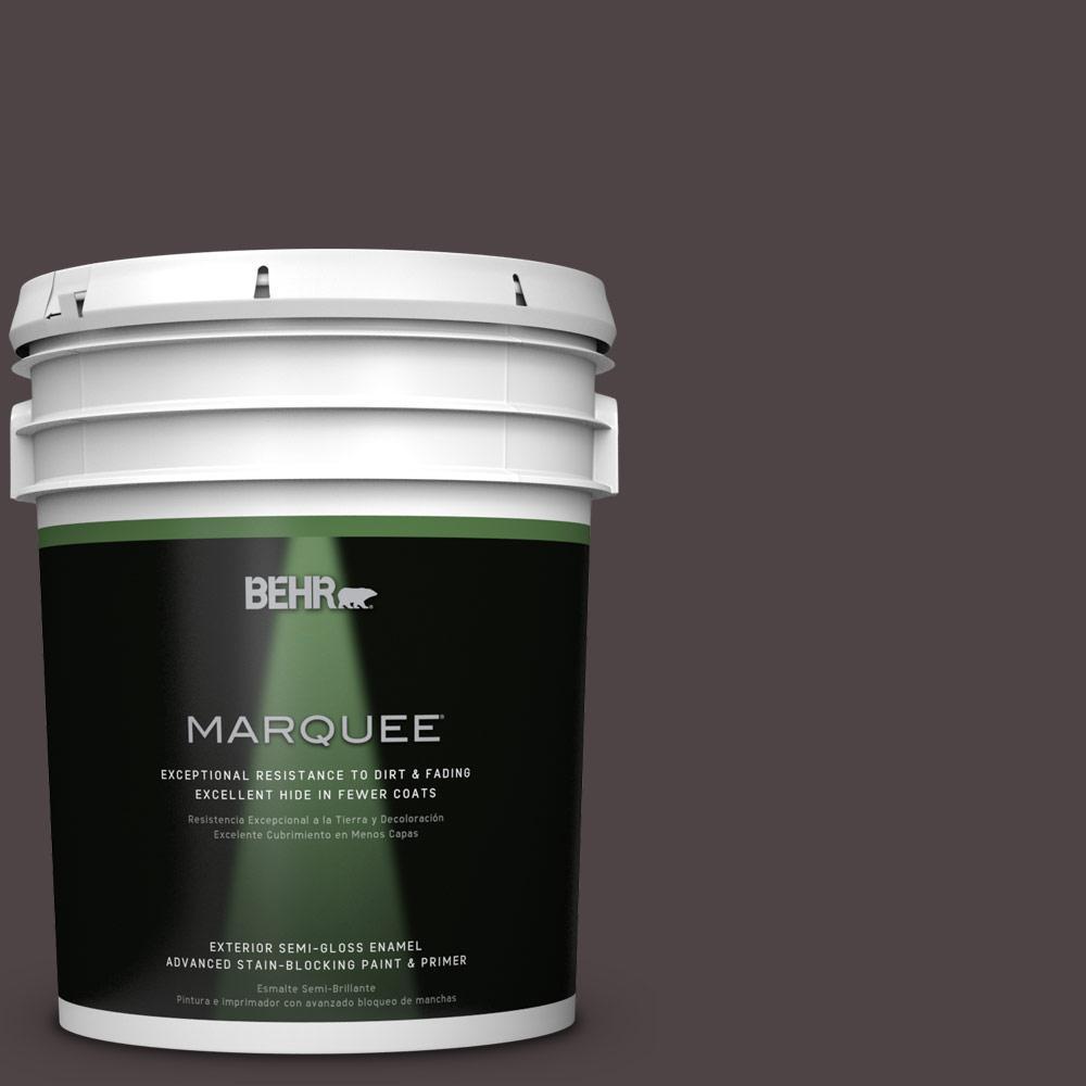 BEHR MARQUEE 5-gal. #N110-7 Black Garnet Semi-Gloss Enamel Exterior Paint
