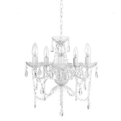 5-Light White Diamond Chandelier
