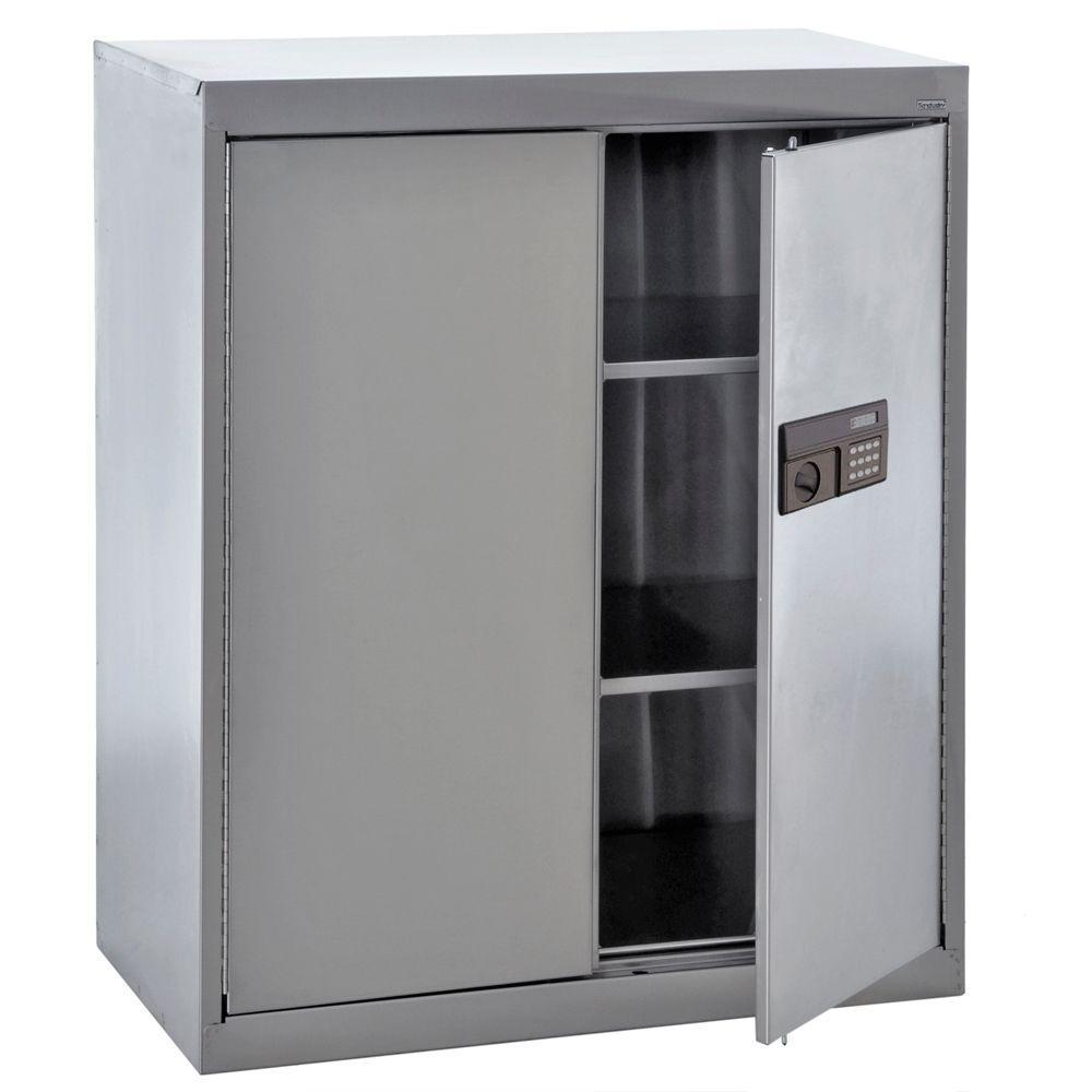 Sandusky 42 in. H x 36 in. W x 18 in. D Freestanding Stainless Steel Cabinet