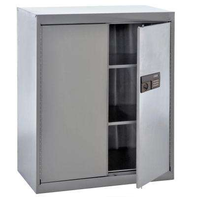 42 in. H x 36 in. W x 18 in. D Freestanding Stainless Steel Cabinet