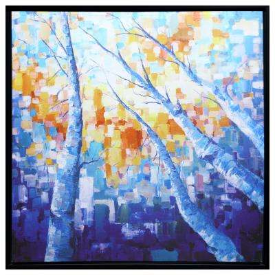 "40 in. x 40 in. ""Dreamland"" Hand Painted Framed Canvas Wall Art"