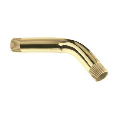 6 in. Shower Arm in Polished Brass