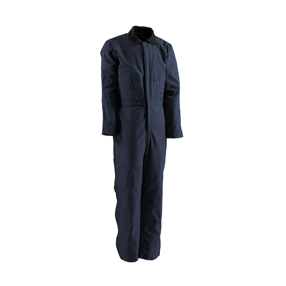 Men's Large Short Navy Polyester and Cotton Deluxe Insulated Twill Coverall