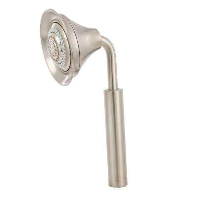 Symbol 4-Spray Multifunction 4-3/4 in. Rainhead Handshower in Vibrant Brushed Nickel