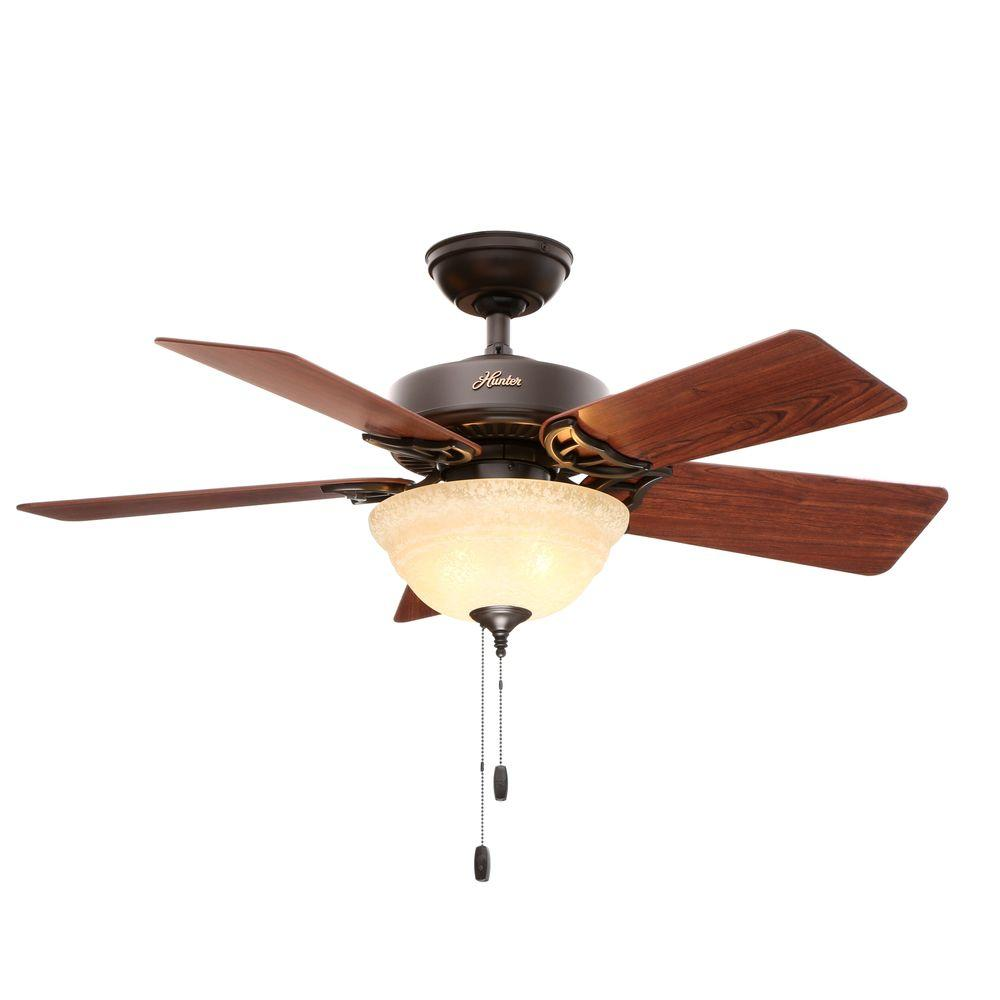 Hunter kensington 42 in indoor new bronze ceiling fan with light indoor new bronze ceiling fan with light kit aloadofball